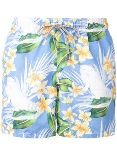 шорты для плавания с цветочным принтом Mc2 Saint Barth