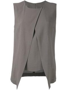 блузка со складками по бокам Eleventy
