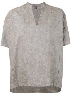 блузка с воротником-стойкой и V-образным вырезом Eleventy