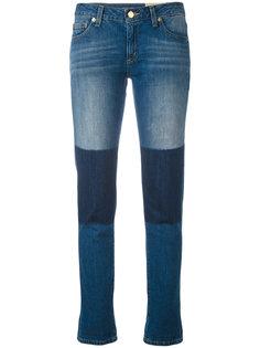 джинсы с контрастными заплатками  Michael Michael Kors