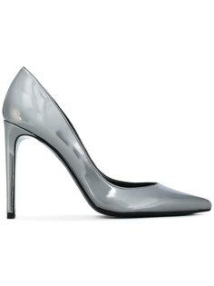туфли с металлическим блеском Stuart Weitzman