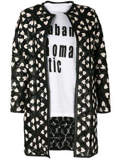 пиджак с цветочными заплатками Caban Romantic