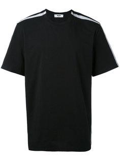 футболка с полосками по бокам MSGM