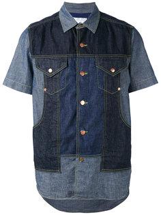джинсовая рубашка с панельным дизайном Ganryu Comme Des Garcons
