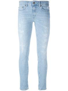 джинсы скинни с потертой отделкой Dondup