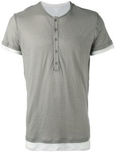 двухслойная контрастная футболка Majestic Filatures