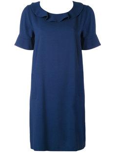 платье-шифт с оборкой на вырезе Twin-Set
