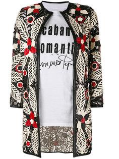 пиджак с цветочной вышивкой Caban Romantic