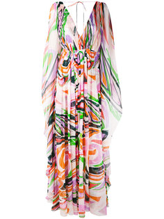 длинное платье с абстрактным рисунком Emilio Pucci