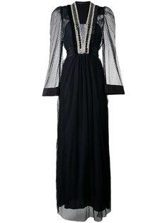 платье с глубоким V-образным вырезом Amen Amen.