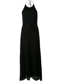 длинное вязаное платье с вырезом-халтер Theory