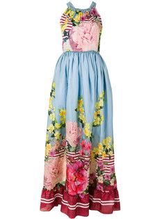 длинное платье с цветочным принтом Blugirl