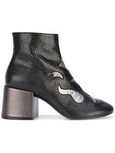 ботинки с панелями металлик Mm6 Maison Margiela