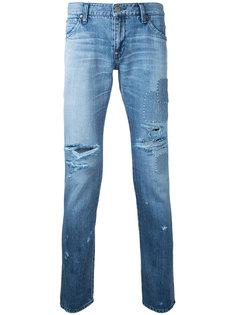 джинсы с рваной отделкой Factotum