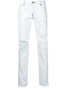 джинсы прямого кроя с рваной отделкой Factotum