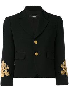 пиджак с вышивкой на рукавах Dsquared2