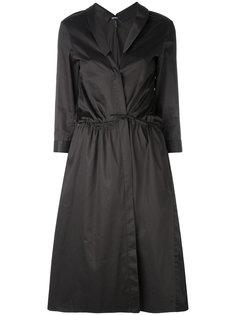 платье-рубашка с запахом Jil Sander Navy