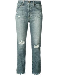 укороченные джинсы с завышенной талией Ag Jeans