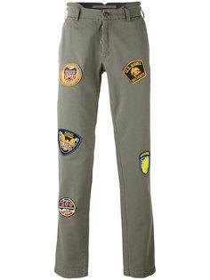 брюки с заплатками в стиле милитари  History Repeats