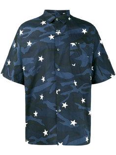 рубашка с камуфляжным узором в звезды Sophnet.
