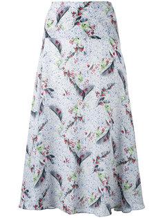 платье средней длины с растительным принтом Cacharel
