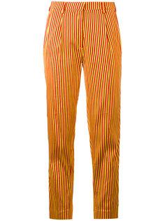 полосатые укороченные брюки Etro