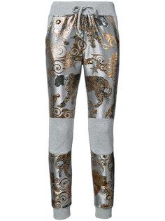 спортивные брюки с жаккардовым узором Poenia Philipp Plein