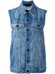 джинсовая жилетка Alexander Wang