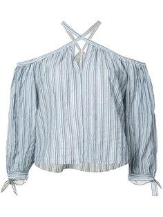 блуза в полоску с петлей-халтер  Rebecca Taylor
