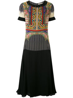 многослойное платье с бахромой Etro