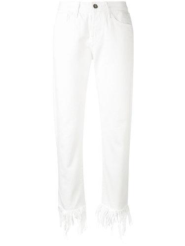 джинсы кроя скинни с бахромой 3X1