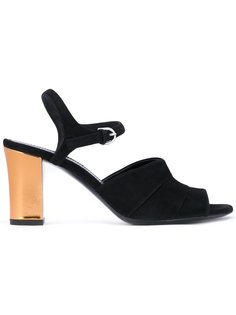 босоножки на контрастном каблуке Jil Sander