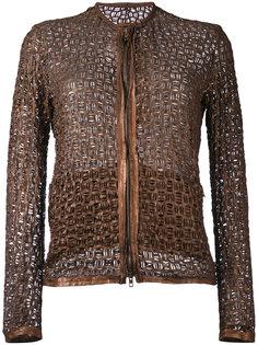 куртка без воротника с плетеным узором Salvatore Santoro