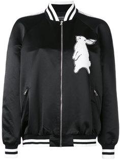 куртка с расшитым пайетками кроликом Markus Lupfer