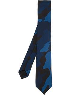 галстук с камуфляжным принтом  Valentino
