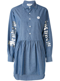 asymmetric denim shirt dress Sold Out Frvr