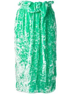 юбка миди прямого кроя с поясом Victoria Beckham