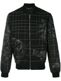 куртка-бомбер с вышивкой Барокко Versace