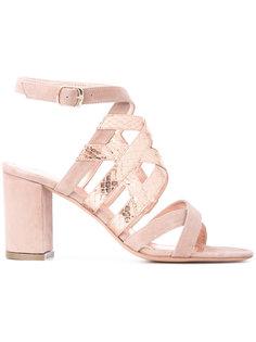 metallic strap sandals Jean-Michel Cazabat