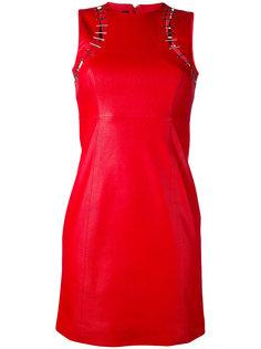 приталенное платье с вырезными деталями Versus