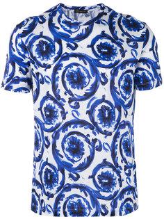 футболка с принтом Baroque  Versace
