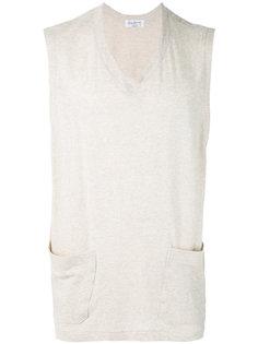 футболка без рукавов с V-образным вырезом Yohji Yamamoto