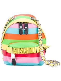 рюкзак через плечо радужной расцветки Moschino