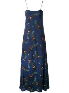 длинное платье с растительным принтом Cacharel
