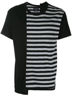 футболка с принтом в полоску Yohji Yamamoto