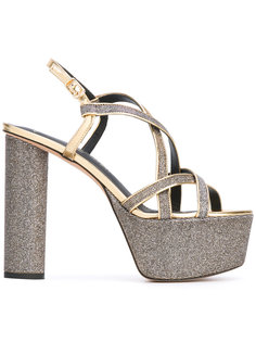 metallic platform sandals Jean-Michel Cazabat
