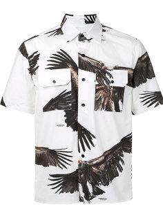 рубашка с короткими рукавами и принтом орлов Yoshio Kubo