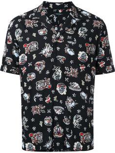 рубашка с принтом в стиле тату Guild Prime
