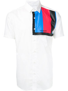 рубашка с контрастной панелью Yoshio Kubo