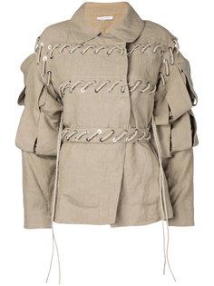 куртка с резной отделкой на рукавах J.W.Anderson